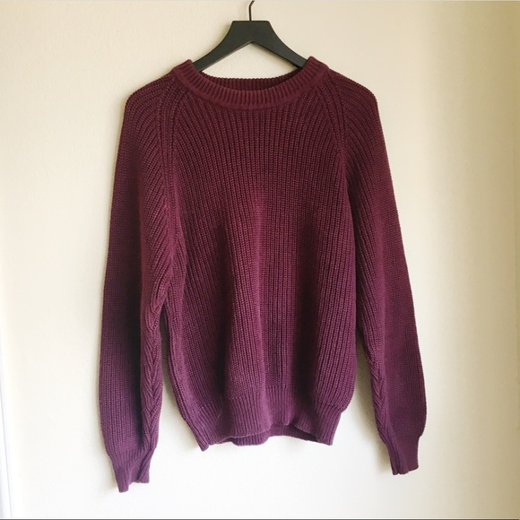 09619fd696 Eddie Bauer Sweaters - Eddie Bauer Chunky Maroon Cable Knit Sweater